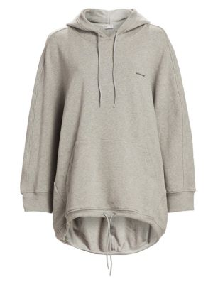 Cocoon Logo-Embroidered Hooded Sweatshirt, Grey