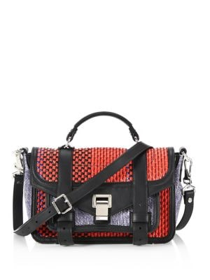 Mixed Woven Leather Shoulder Bag by Proenza Schouler