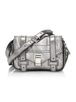 Mini Metallic Leather Crossbody Bag by Proenza Schouler