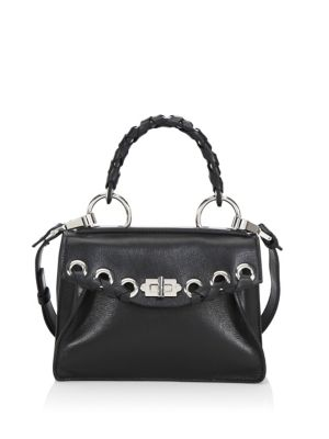 Small Hava Whipstitched Top-Handle Bag, Black
