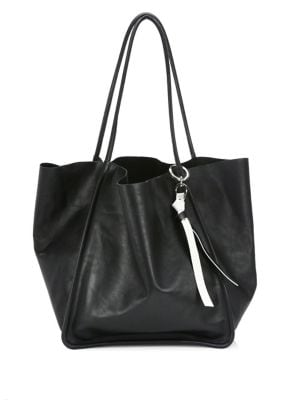 Extra Large Classic Leather Tote, Black