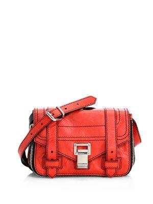 Proenza Schouler  Zippered Mini Leather Crossbody Bag
