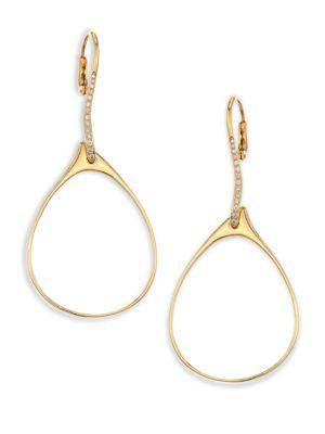 ETHO MARIA My Etho Teardrop Diamond Earrings in Yellow Gold
