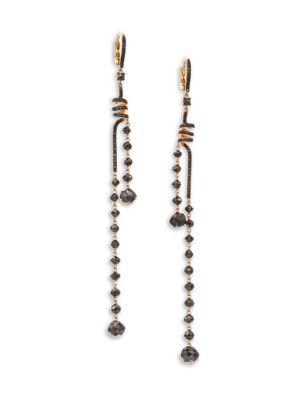 ETHO MARIA Leyla 18K Rose Gold & Black Diamond Coil Earrings