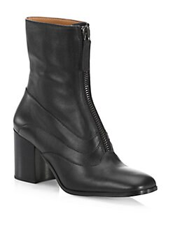 Chloé - Qacey Leather Booties