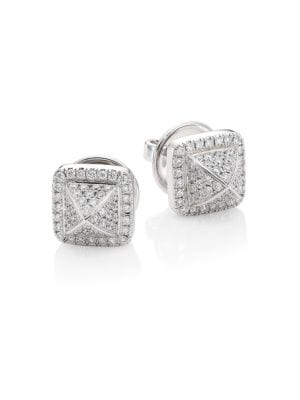 MARLI Cleo 18K White Gold Stud Diamond Earrings
