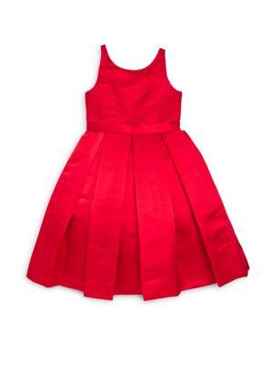 Toddlers Little Girls  Girls Silk FitFlare Belt Dress