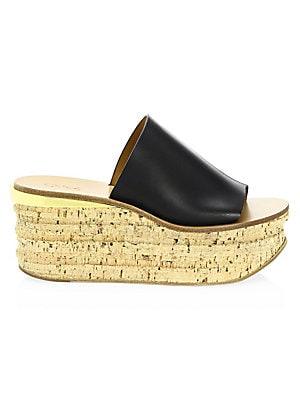 cb8abf531afb Chloé - Camille Leather Platform Sandals - saks.com