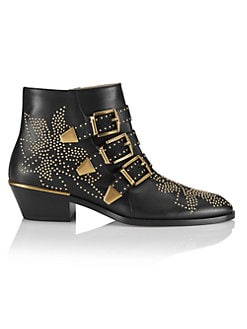 Chloé - Susanna Leather Booties