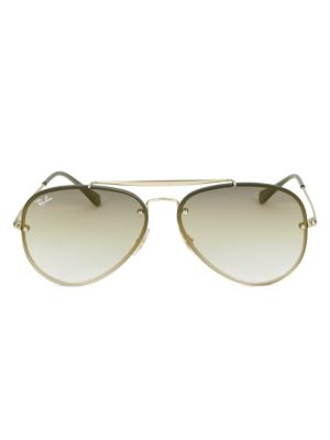 Ray Ban Accessories 61MM Metal Aviator Sunglases