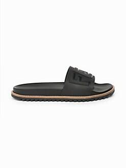 2f626fbc7 Fendi - Logo Embossed Slide Sandals