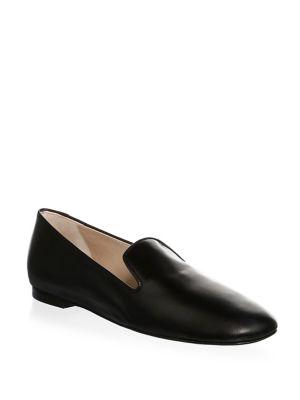 Women'S Myguy Leather Smoking Slippers in Black from STUART WEITZMAN