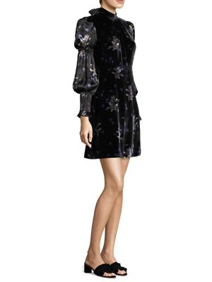 Velvet And Foral Dress by Rebecca Taylor