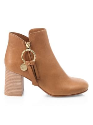 Louise Leather Booties by See By Chloé