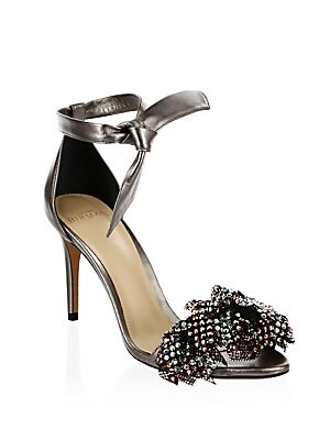 966f8a3776b Alexandre Birman - Clarita Metallic Leather Ankle-Tie Sandals - saks.com
