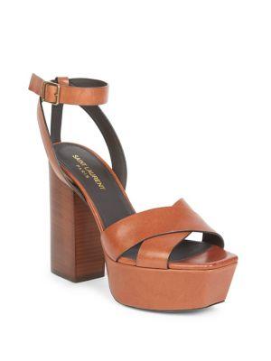 fc292c08c5a Farrah Ankle-Strap Leather Platform Sandals