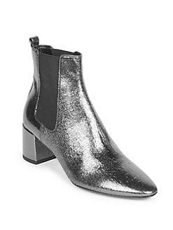 SAINT LAURENT - Lou Lou Leather Chelsea Boots