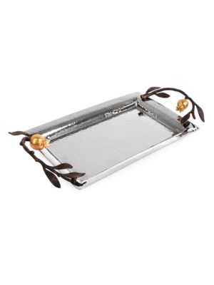 Pomegranate Stainless Steel Mini Tray by Michael Aram