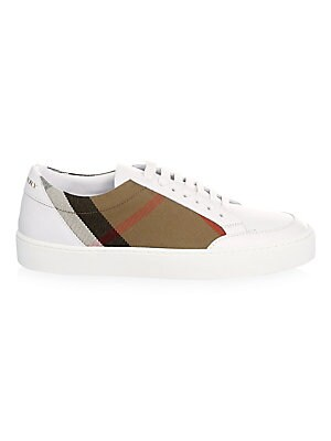 d2e72d0475c Burberry - Salmond Low-Top Leather Sneakers