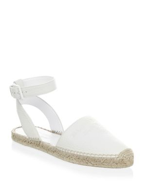 Abbin Logo Leather Espadrilles by Burberry