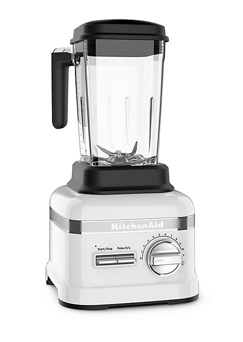 Image of From the KitchenAid Collection. An exceptional blender for making heathy, nutritious eating easy. Asymmetric stainless steel blade blends at four different angles.3.5 peak HP motor. Flex Edge Tamper helps push ingredients through blending vortex. Precisio