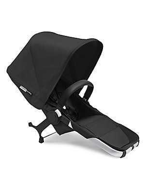 Image of Convert your Bugaboo Donkey2 base stroller into a double stroller with just 3 clicks. Includes a reversible seat frame with 3-position recline, sun canopy, and rain cover to protect your little one from the elements. Bugaboo Donkey2 lightens your load, su