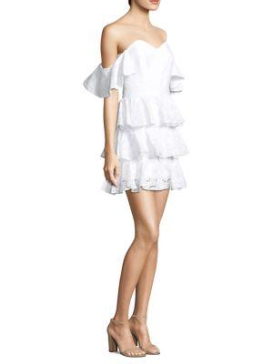 Ruffle Cotton Dress by Caroline Constas