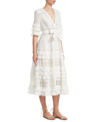 corsair-ruffle-midi-dress by zimmermann