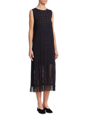 Knit And Lace Dress by Pleats Please Issey Miyake