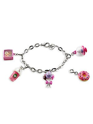 """Image of This bracelet features interchangeable charms and an included gift box Enamel, acrylic, poly resin, base metal Length, about 7.5"""" Charm diameter, about 1"""" Gift box, 3.5""""W x 4.75""""H x 1.25""""D Lobster clasp Made in USA. Children's Wear - Infant Toys And Gifts"""