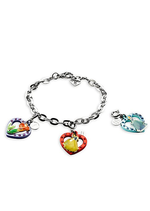 """Image of This bracelet features interchangeable charms and an included gift box. Enamel, acrylic, anodized base metal, base metal. Length, about 7.5"""".Charm diameter, about 1"""".Gift box, 3.5""""W x 4.75""""H x 1.25""""D.Lobster clasp. Made in USA."""
