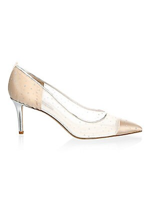 e0786ccd833 SJP by Sarah Jessica Parker - Glass Material Point Toe Leather Pumps ...