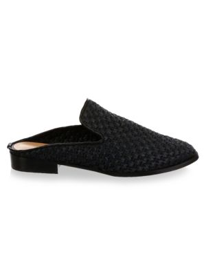 ROBERT CLERGERIE Black Aliceop 25 Raffia Mules