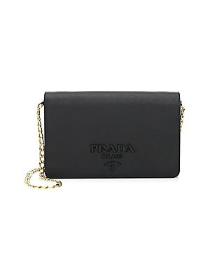 b590794506da Prada - Small Monochrome Leather Crossbody Bag