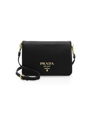 Small Daino Leather Bag by Prada