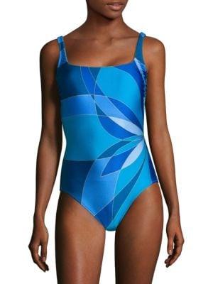 Gottex Swim One-Piece Squareneck Swimsuit