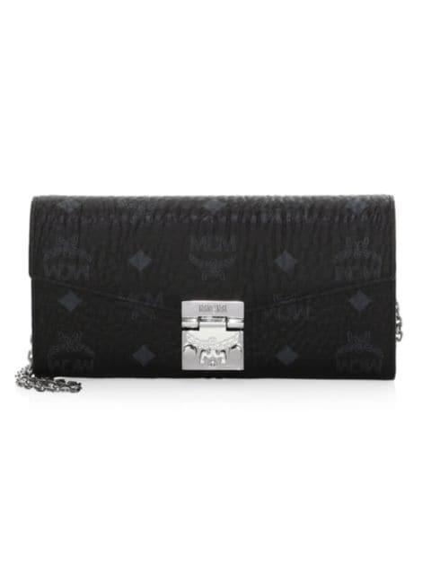 MCM Large Patricia Visetos Leather Wallet-On-Chain | SaksFifthAvenue