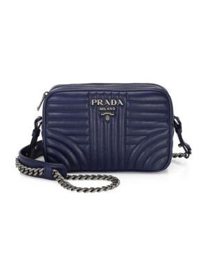 614b7a3e045 PRADA DIAGRAMME LEATHER CAMERA BAG