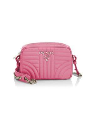 5ca850e7b Shoptagr | Small Diagramme Leather Camera Bag by Prada