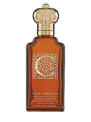 Image of A deep woody Oriental that imparts a seductive smokiness onto the skin thanks to its fusion of Saffron and tobacco. Mandarin adds a pleasing balance. 3.38 oz. Imported. Fragrances - Clive Christian > Saks Fifth Avenue. Clive Christian.