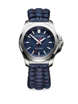 VICTORINOX SWISS ARMY I.N.O.X. Paracord Bracelet Analog Watch in Blue