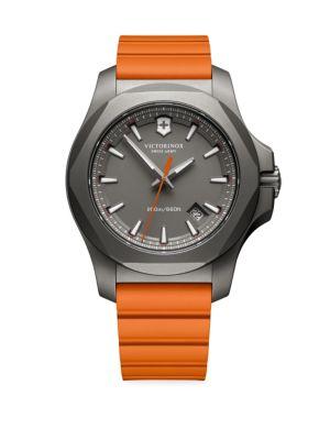 VICTORINOX SWISS ARMY Round Rubber Strap Analog Watch in Orange