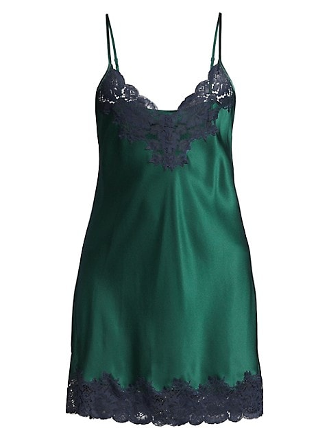 Basic Scallop-Trimmed Silk Chemise