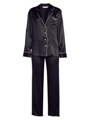 Ginia Fleurette Silk Pajamas
