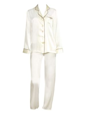 Ginia Fleurette Mrs Silk Pajama Top and Pants