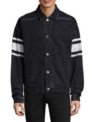 DIM MAK Sheffields Denim Work Jacket in Black