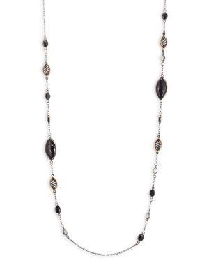 BAVNA Black Spinel & Diamond Necklace in Multi
