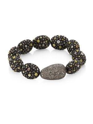 BAVNA Mixed Pavé Bracelet in Yellow Gold