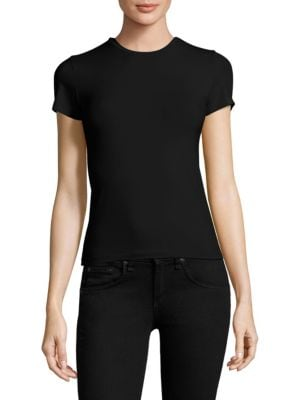 ATM ANTHONY THOMAS MELILLO Stretch-Pima Cotton Fitted T-Shirt - Black Size S