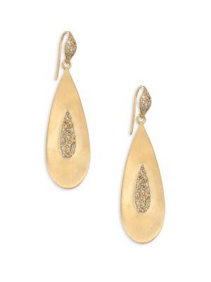 BAVNA 18K Gold Teardrop Earrings in Yellow Gold